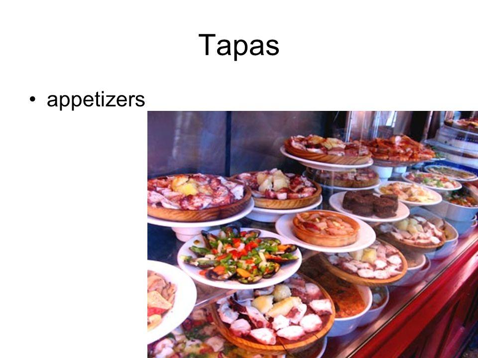 Tapas appetizers