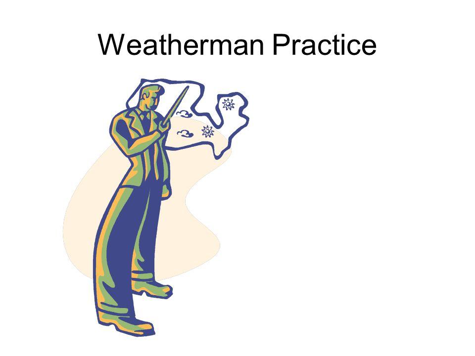 Weatherman Practice