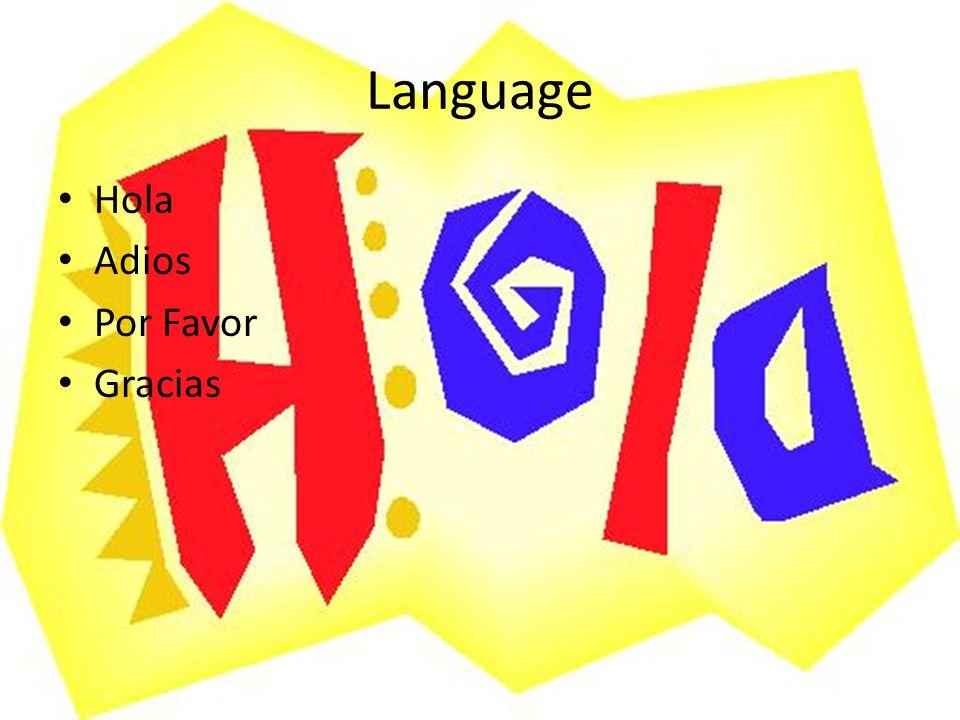 Language Hola Adios Por Favor Gracias
