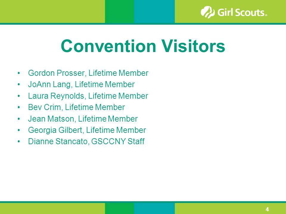 Convention Visitors Gordon Prosser, Lifetime Member JoAnn Lang, Lifetime Member Laura Reynolds, Lifetime Member Bev Crim, Lifetime Member Jean Matson,