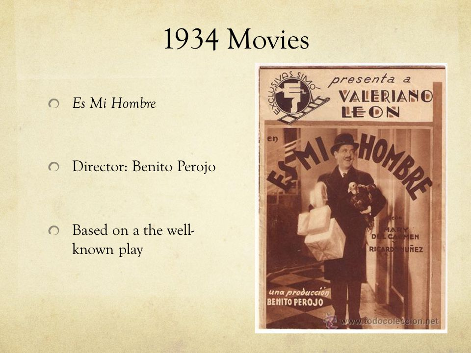 Benito Perojo Born June 14, 1894 and died November 11, 1974 Directed 52 movies and produced 47 movies Founded Films Benavente S.L.