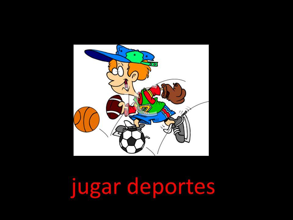 jugar deportes
