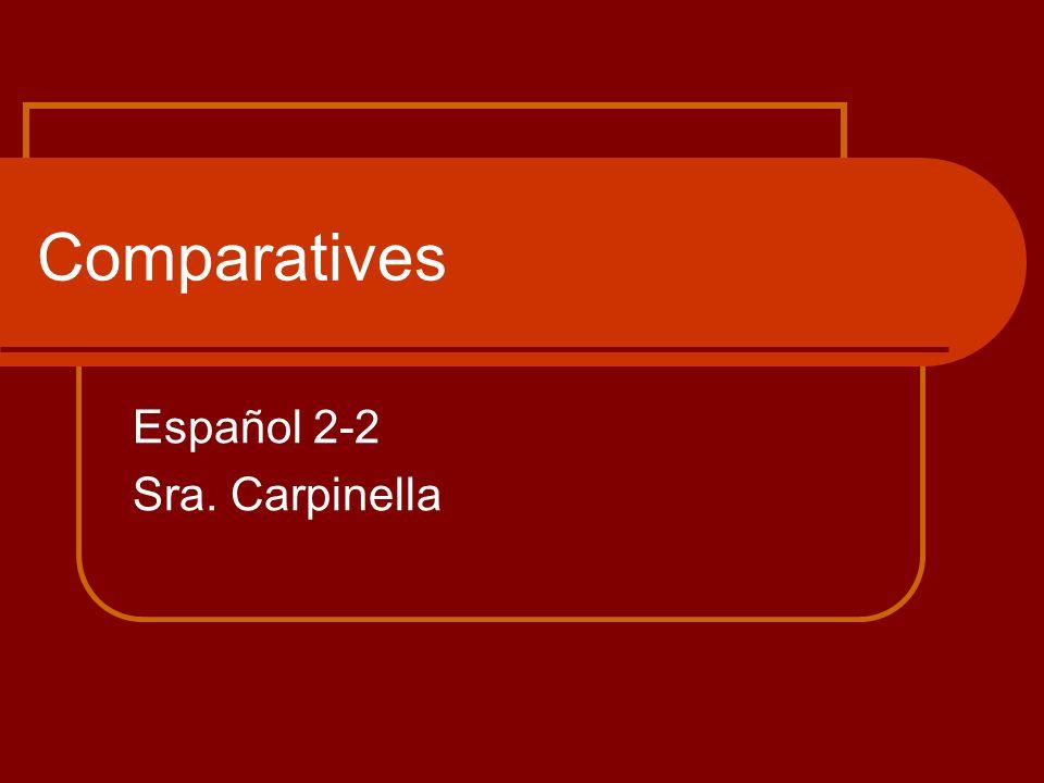 Comparatives Español 2-2 Sra. Carpinella