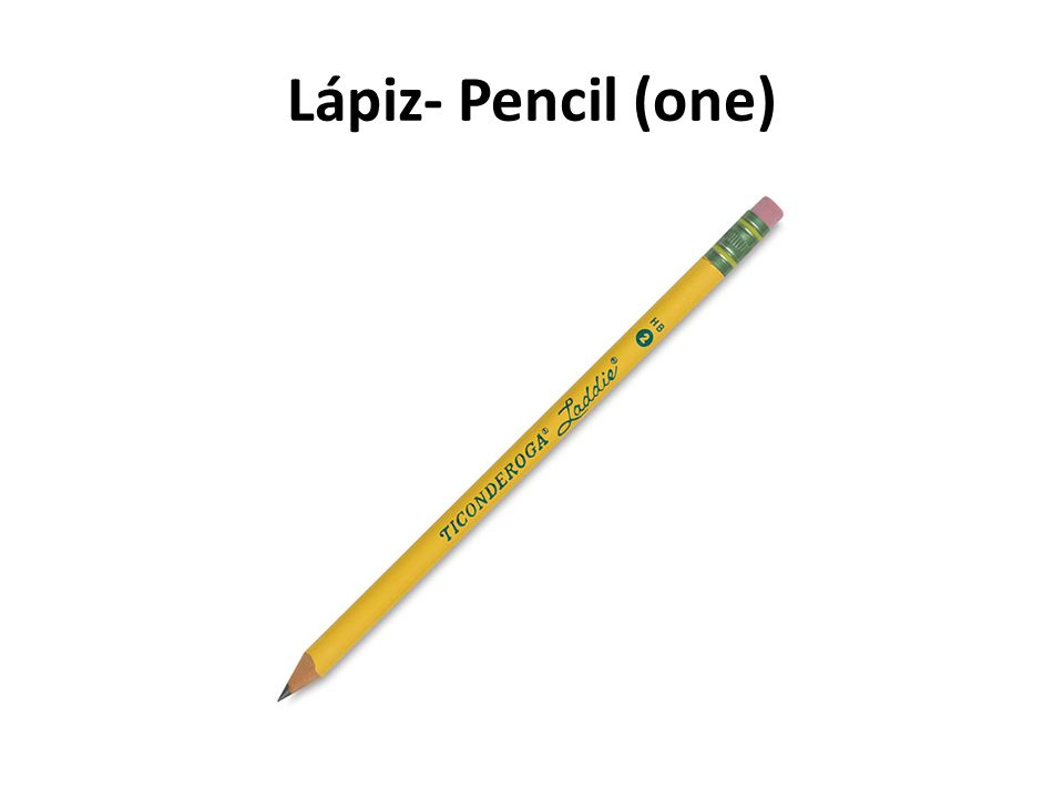 Lápiz- Pencil (one)