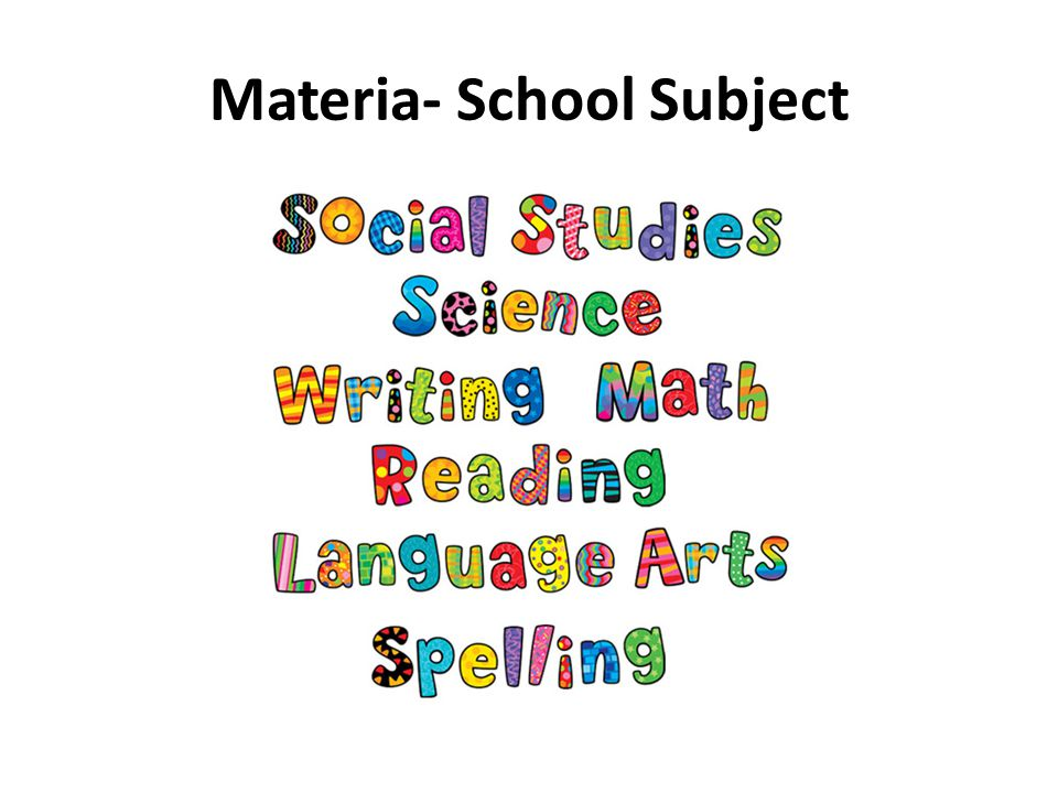 Materia- School Subject