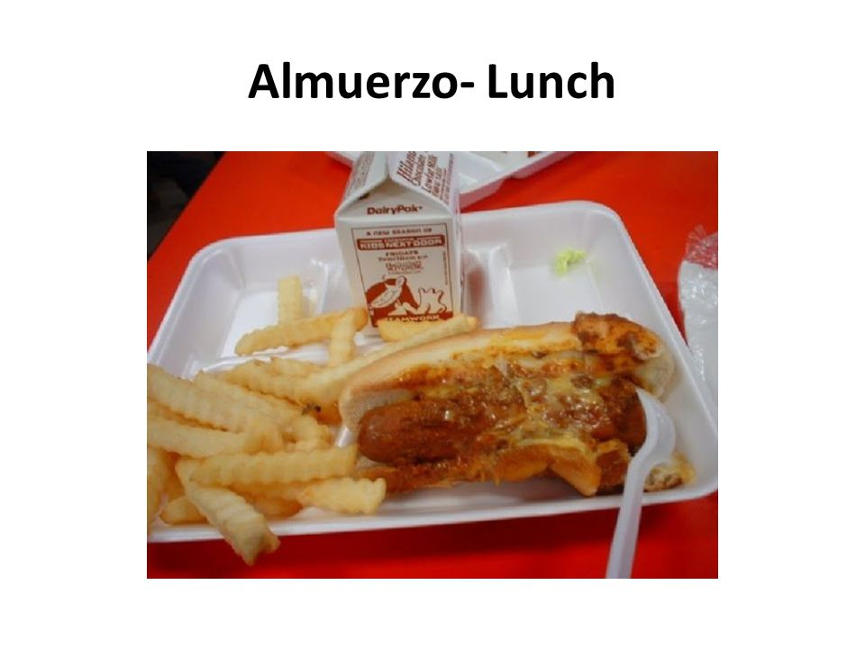 Almuerzo- Lunch