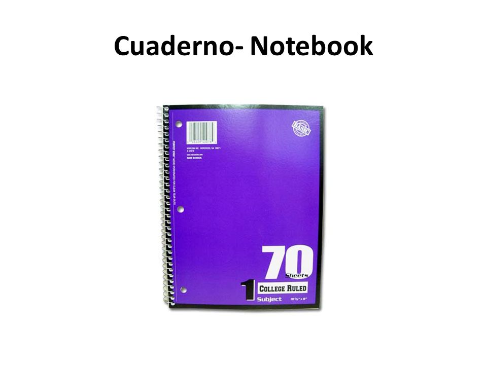 Cuaderno- Notebook