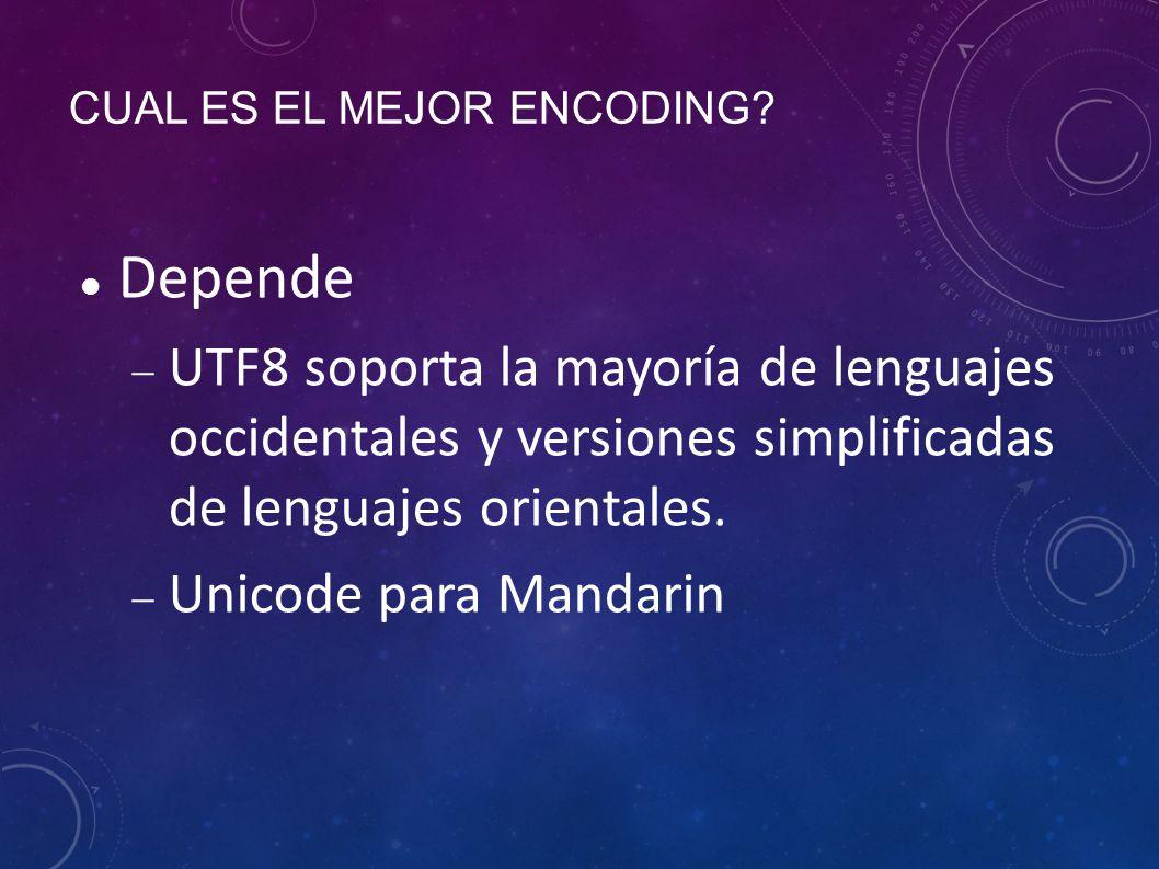 CUAL ES EL MEJOR ENCODING.