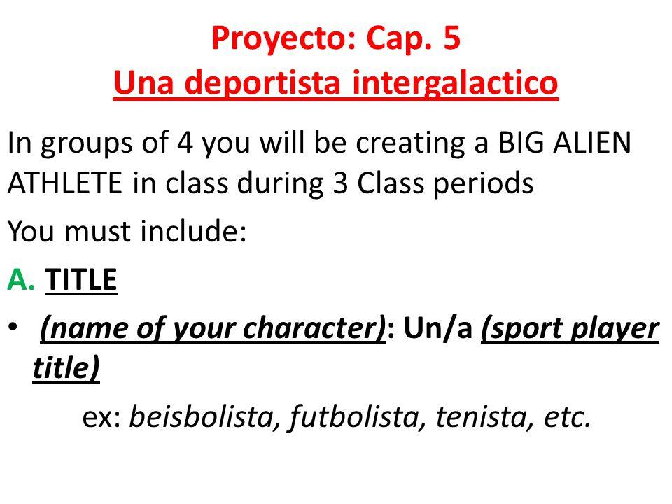 Proyecto: Cap.