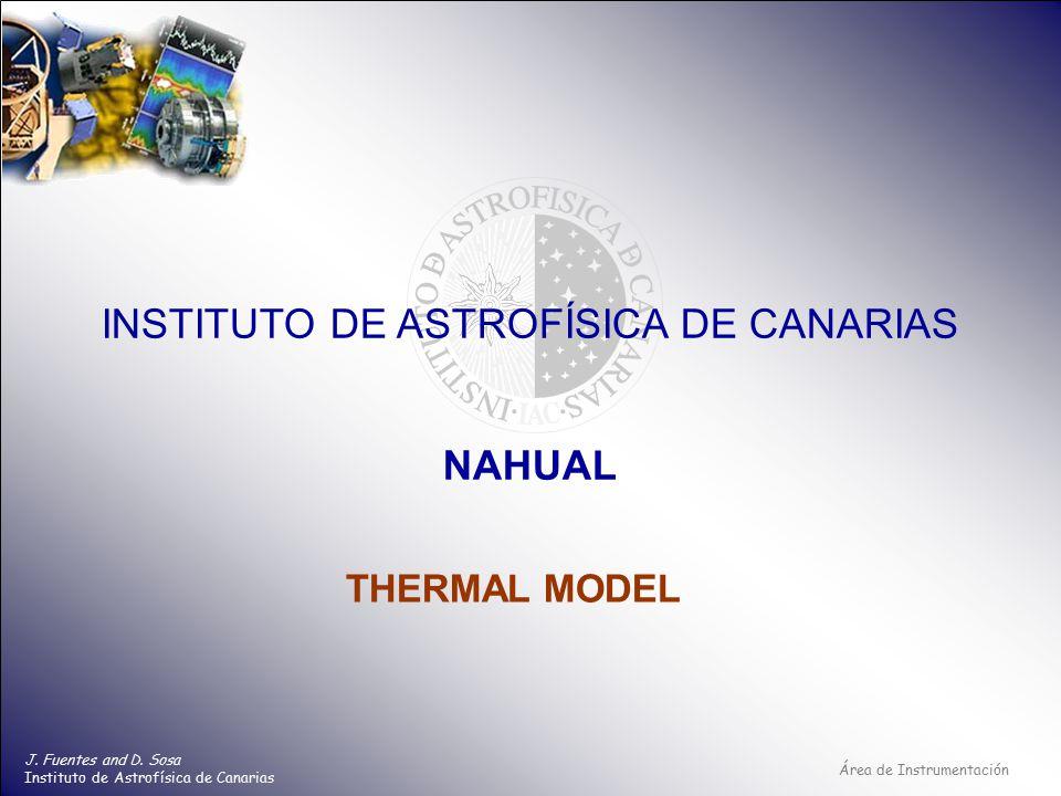 Área de Instrumentación INSTITUTO DE ASTROFÍSICA DE CANARIAS J.