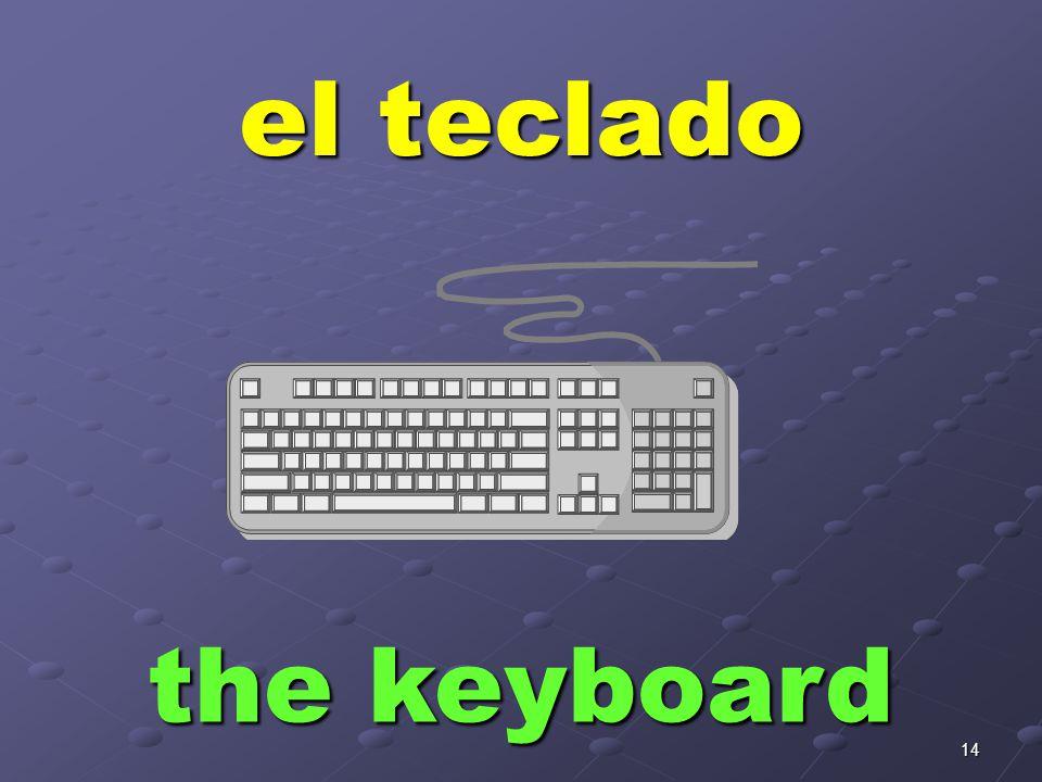 14 el teclado the keyboard