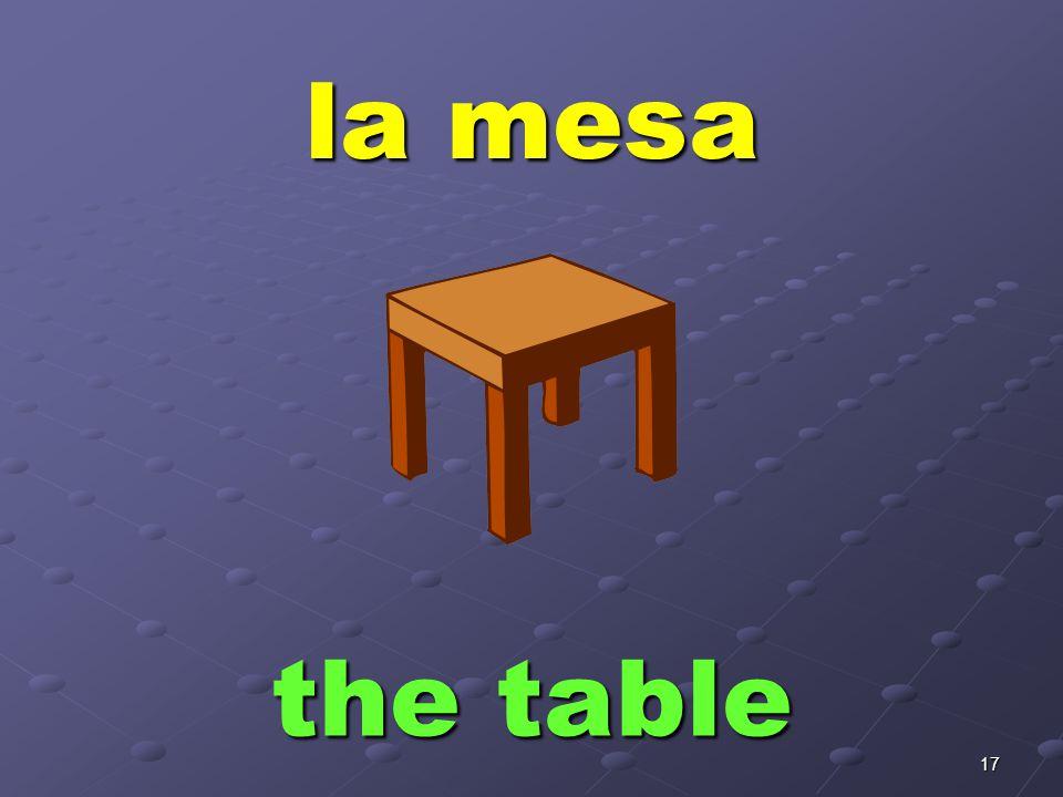 17 la mesa the table