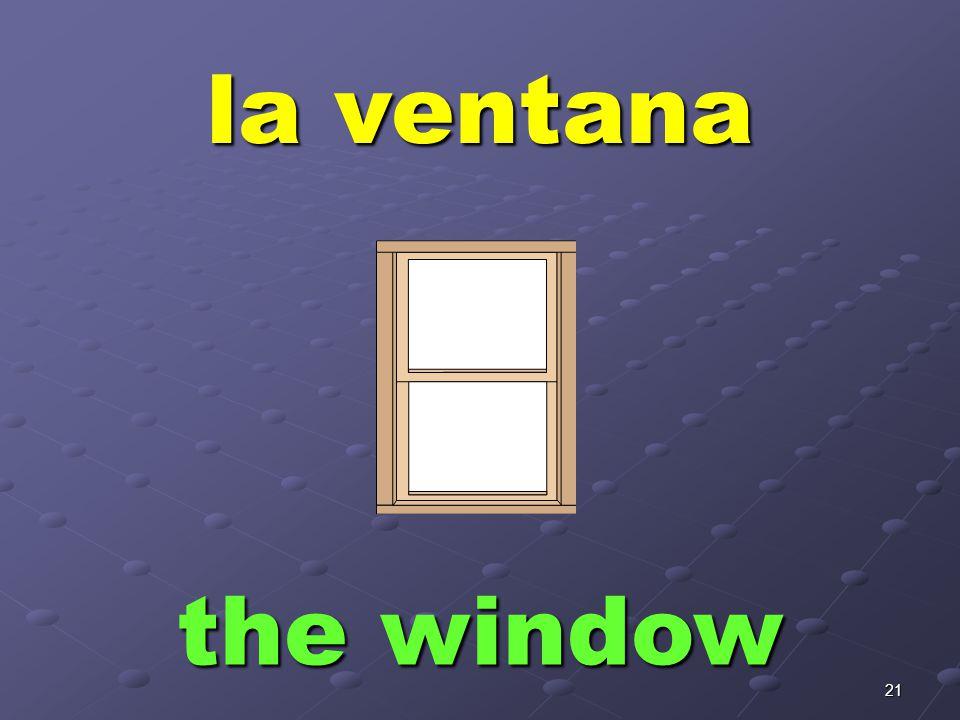 21 la ventana the window