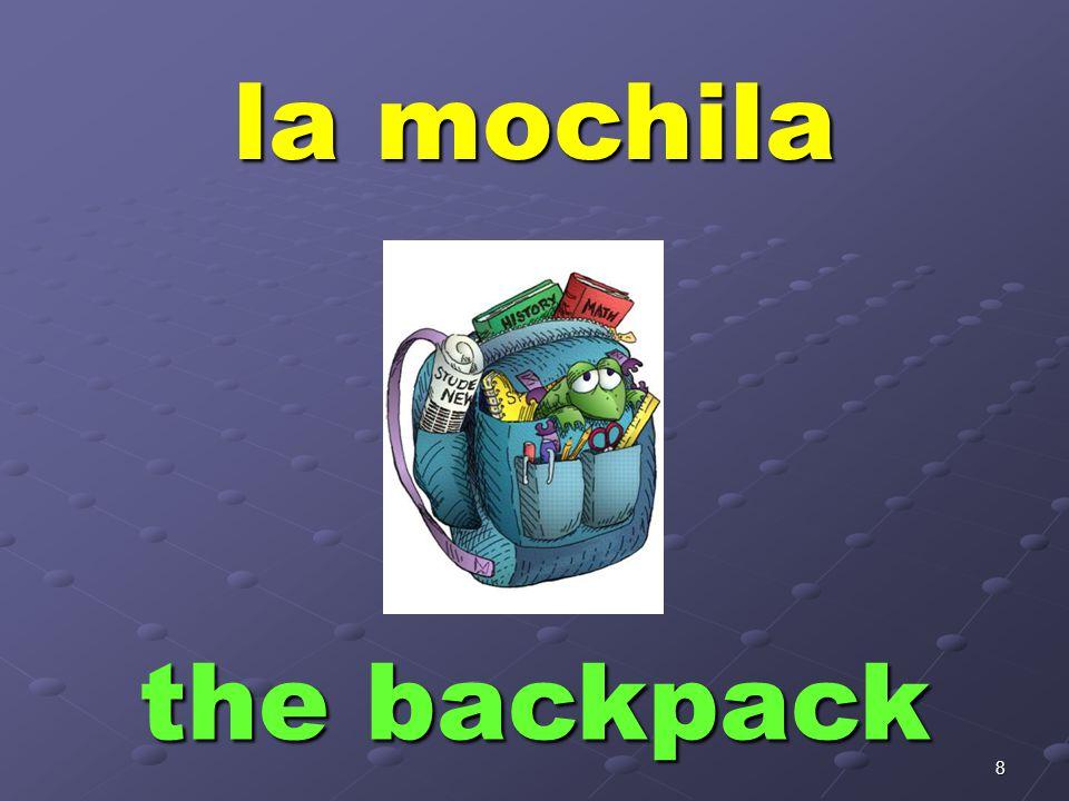 8 la mochila the backpack