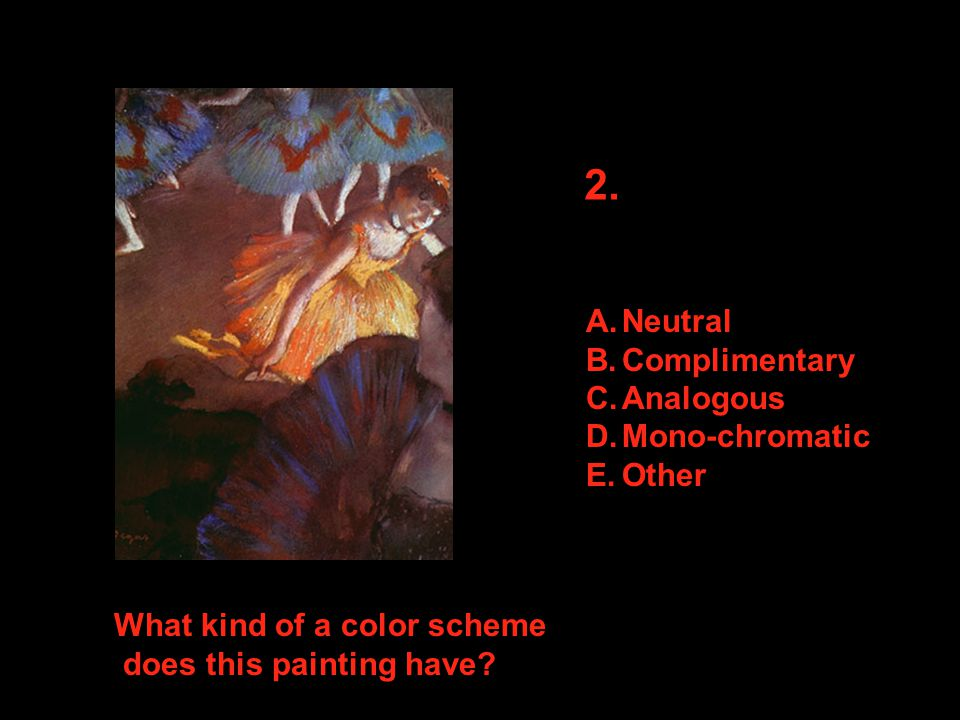 What kind of a color scheme does this painting have.