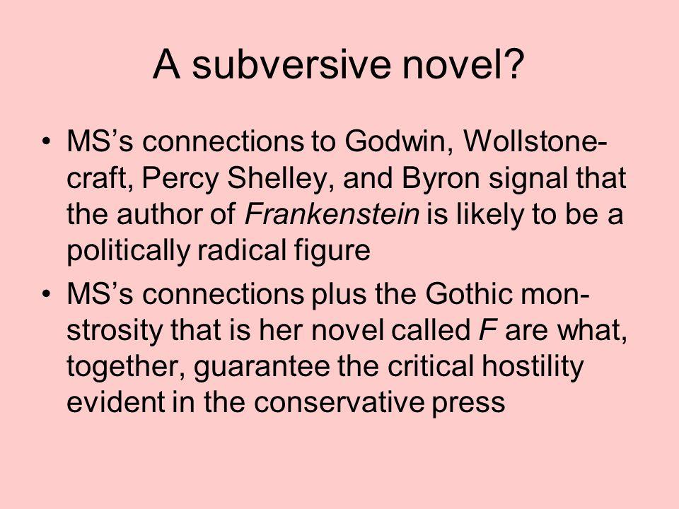 A subversive novel.