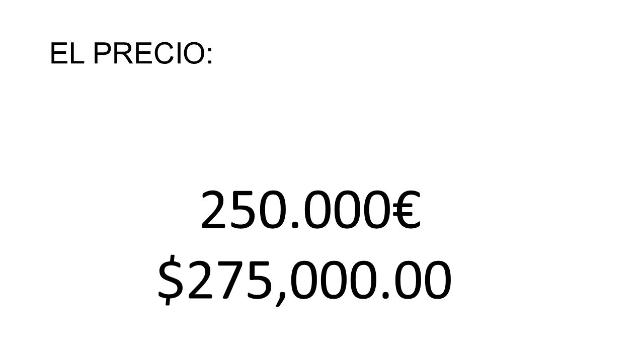 EL PRECIO: 250.000€ $275,000.00
