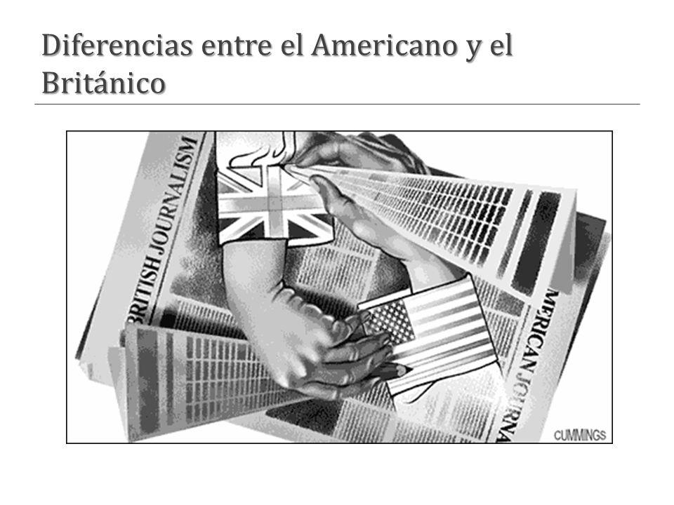 Diferencias entre el Americano y el Británico