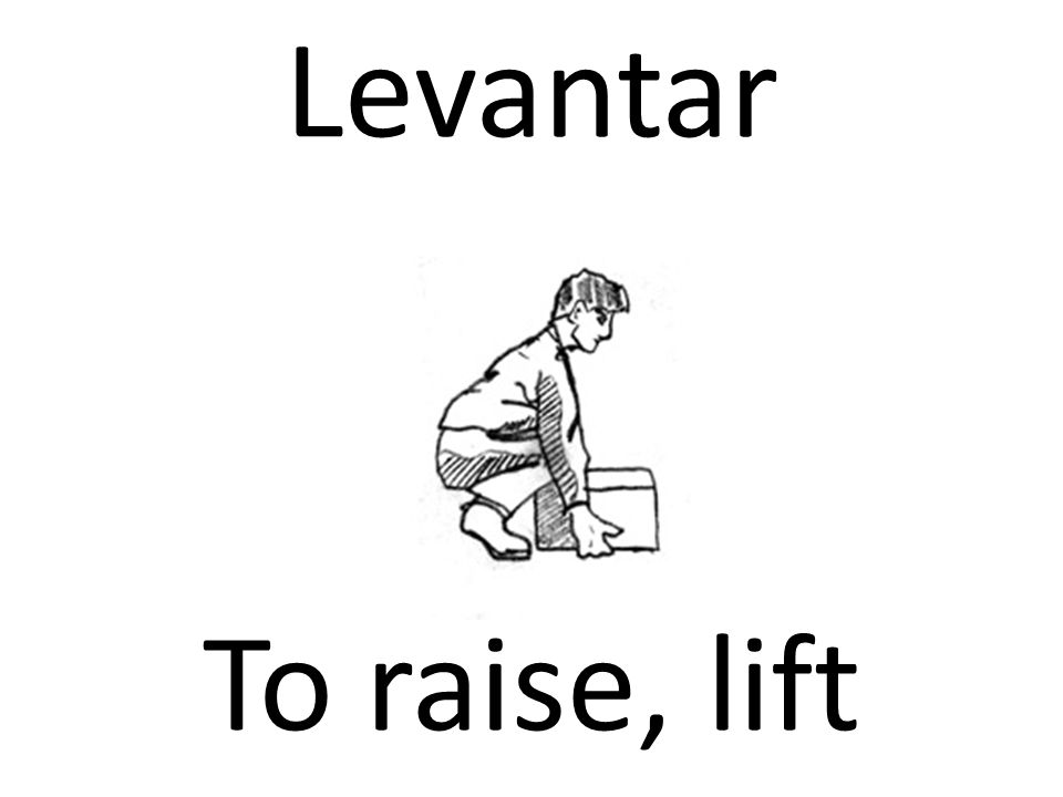 Levantar To raise, lift