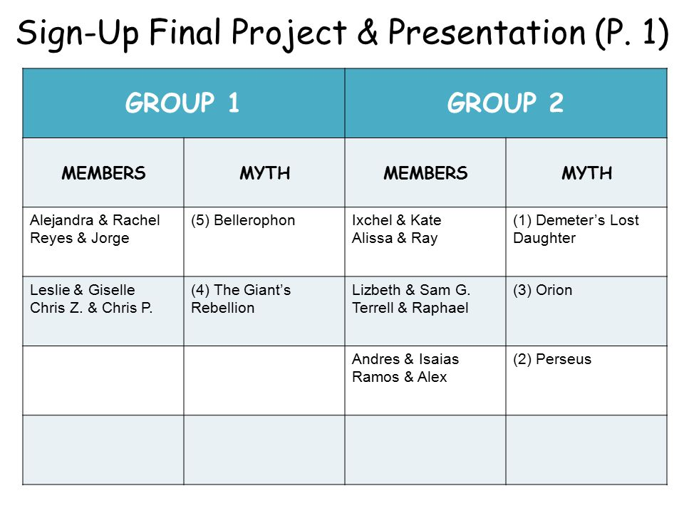 Sign-Up Final Project & Presentation (P.