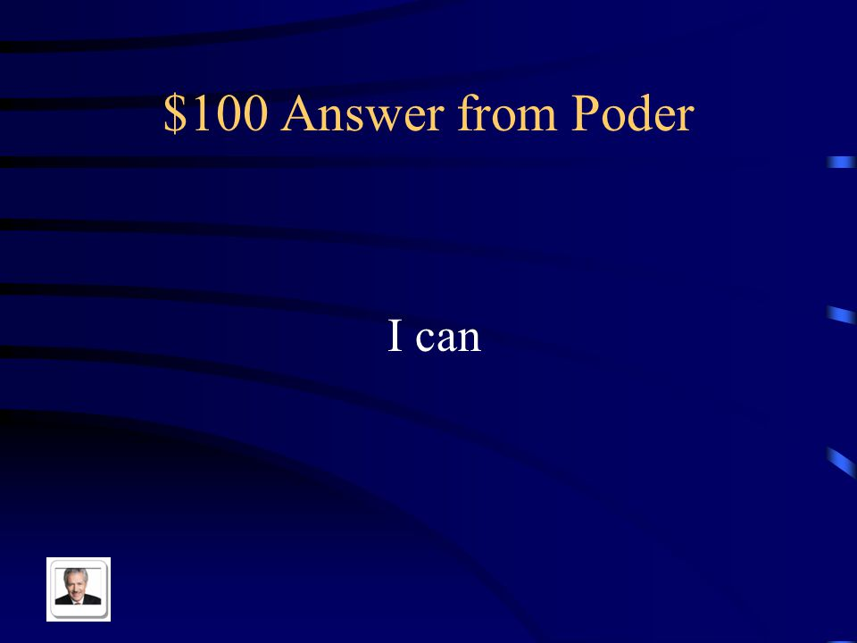 $100 Question from Poder Yo puedo in English