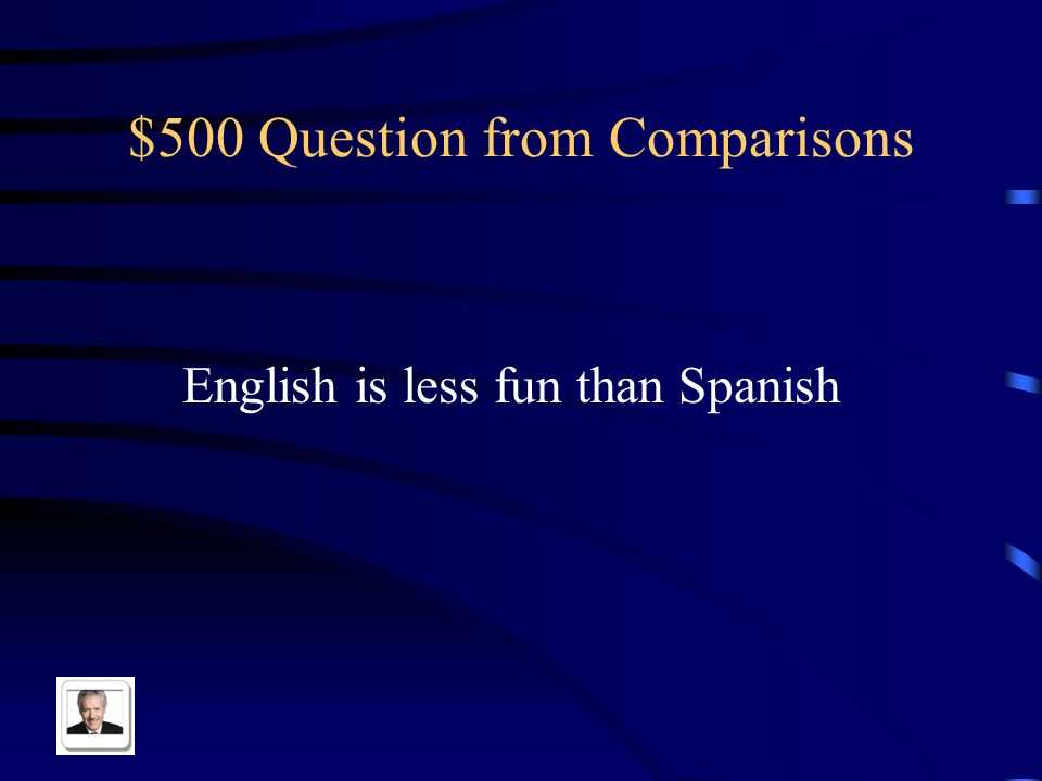 $400 Answer from Comparisons El despertador es más pequeño que la mesita