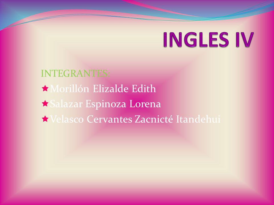 INTEGRANTES:  Morillón Elizalde Edith  Salazar Espinoza Lorena  Velasco Cervantes Zacnicté Itandehui