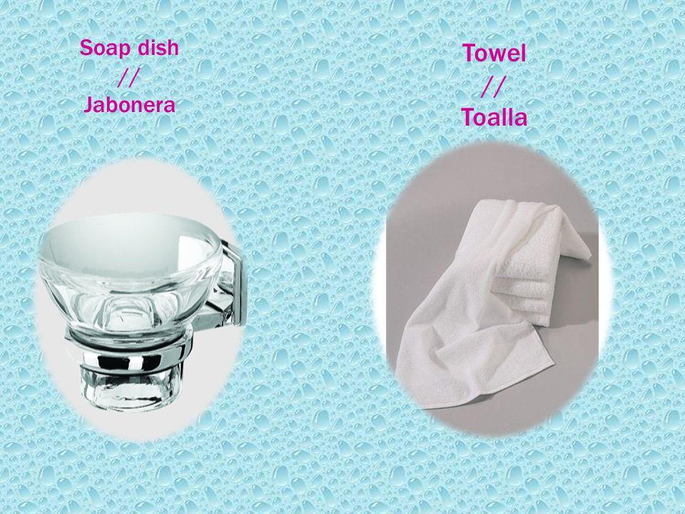 Soap dish // Jabonera Towel // Toalla