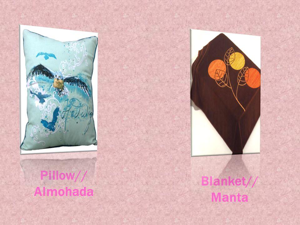 Pillow// Almohada Blanket// Manta