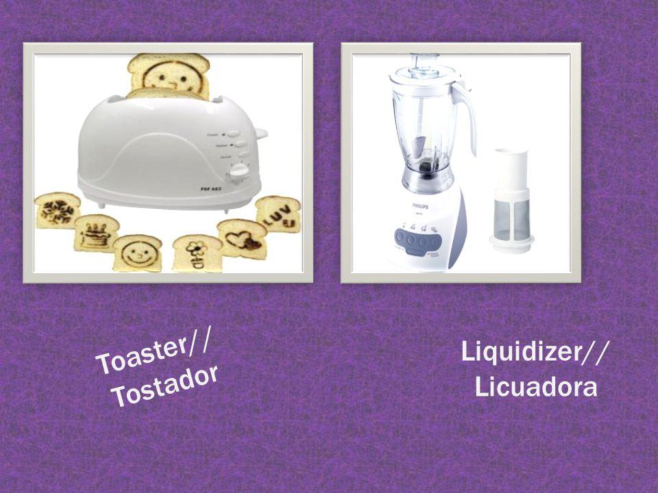 Toaster// Tostador Liquidizer// Licuadora