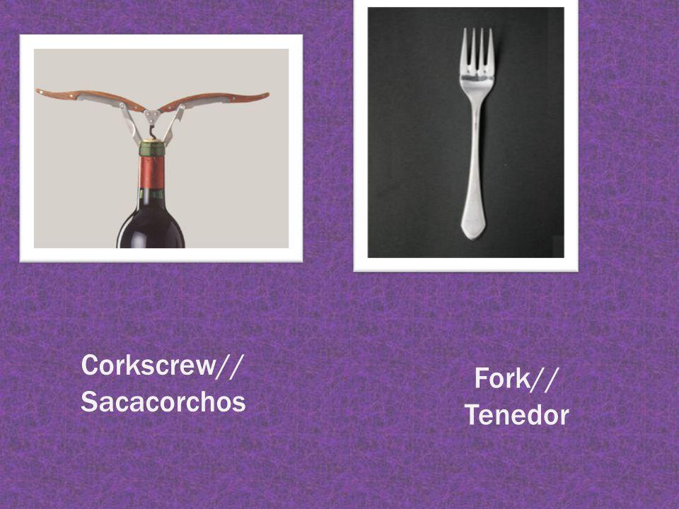Corkscrew// Sacacorchos Fork// Tenedor