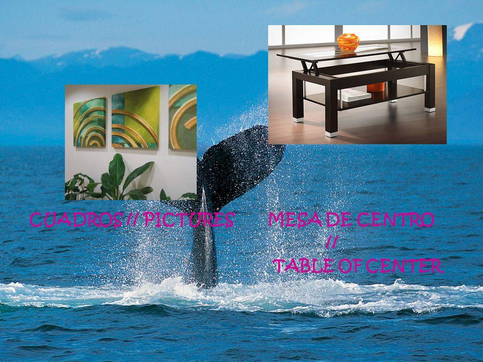 CUADROS // PICTURES MESA DE CENTRO // TABLE OF CENTER