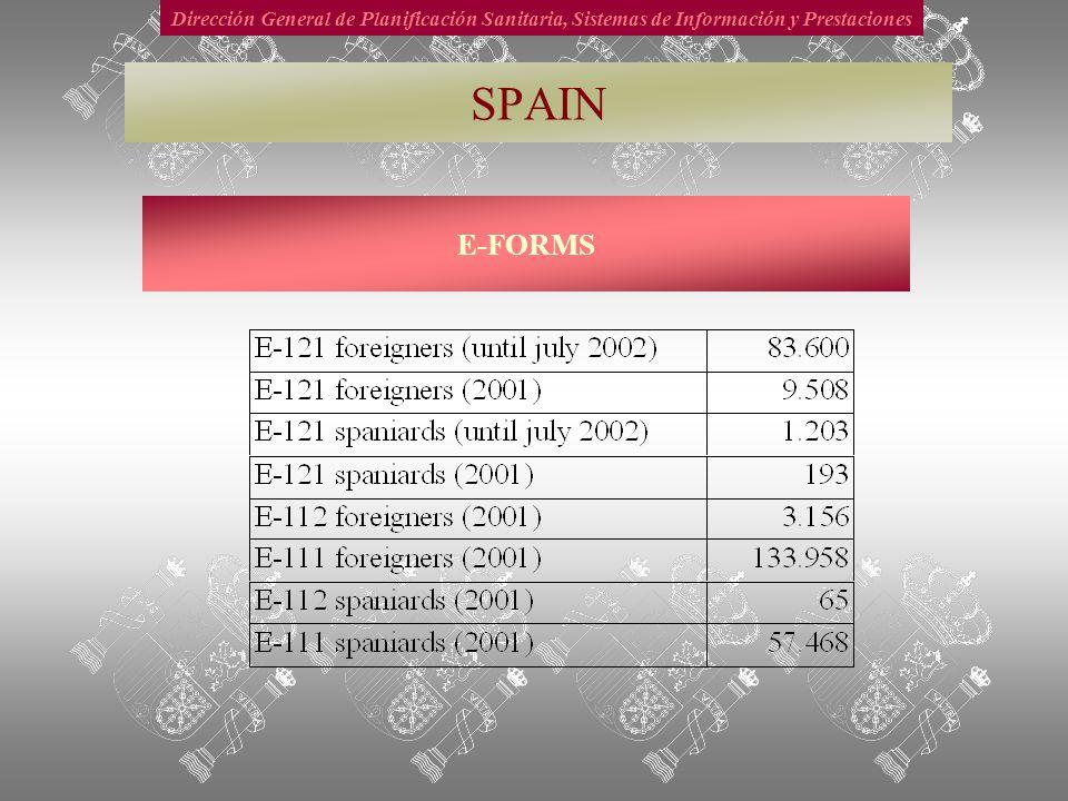 Dirección General de Planificación Sanitaria, Sistemas de Información y Prestaciones E-FORMS SPAIN