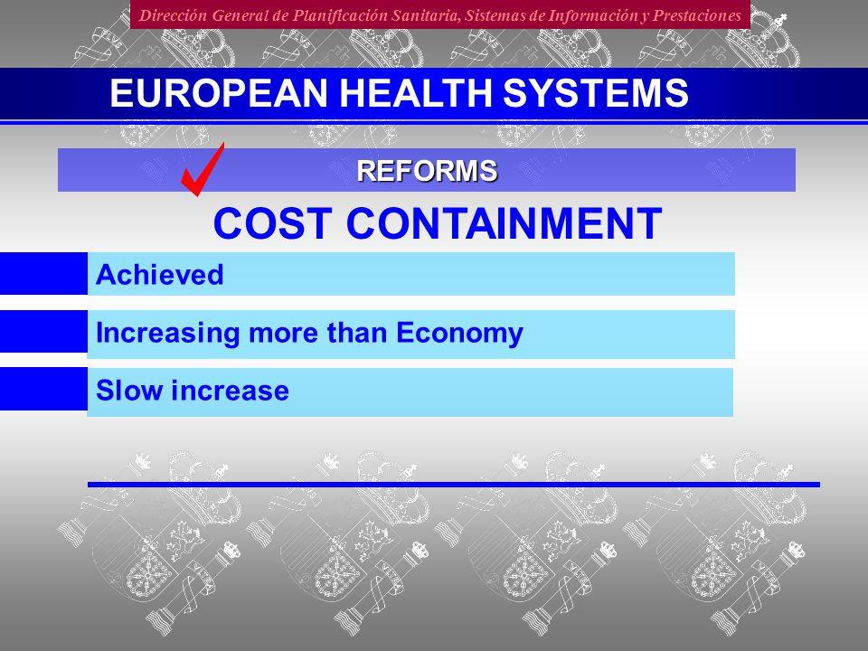 Dirección General de Planificación Sanitaria, Sistemas de Información y Prestaciones CLOSER TO THE CITIZEN Devolution/decentralisation REFORMS EUROPEAN HEALTH SYSTEMS