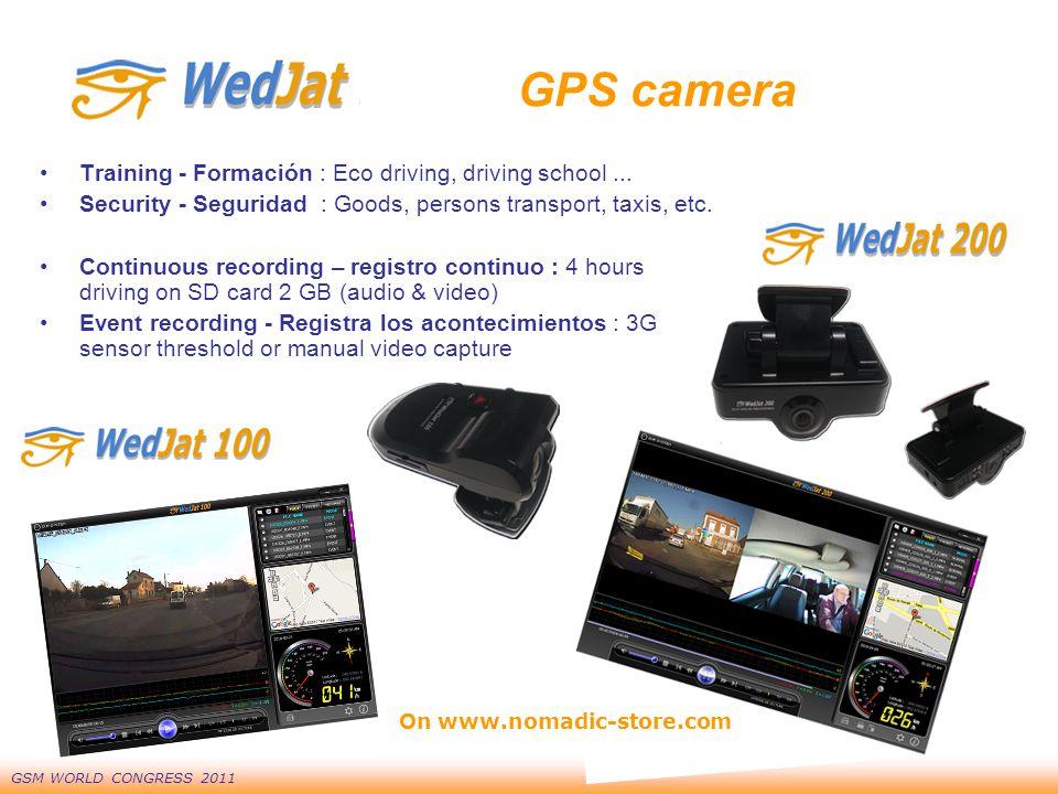 GSM WORLD CONGRESS 2011 GPS camera Training - Formación : Eco driving, driving school...