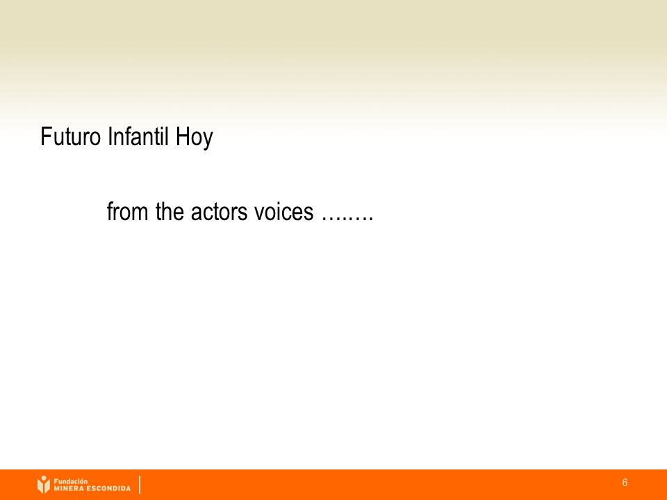 6 Futuro Infantil Hoy from the actors voices ….….