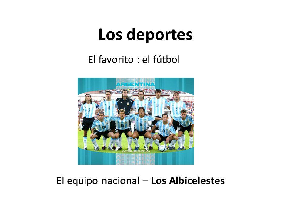 Los deportes El equipo nacional – Los Albicelestes El favorito : el fútbol