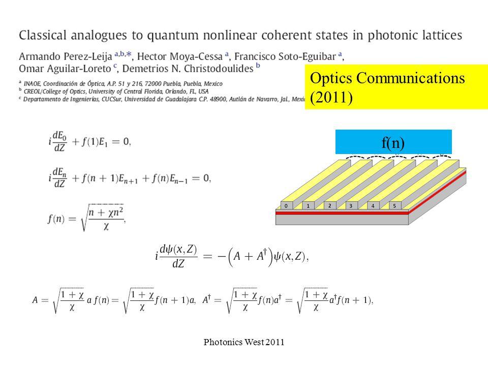 SU(1,1) algebra Photonics West 2011