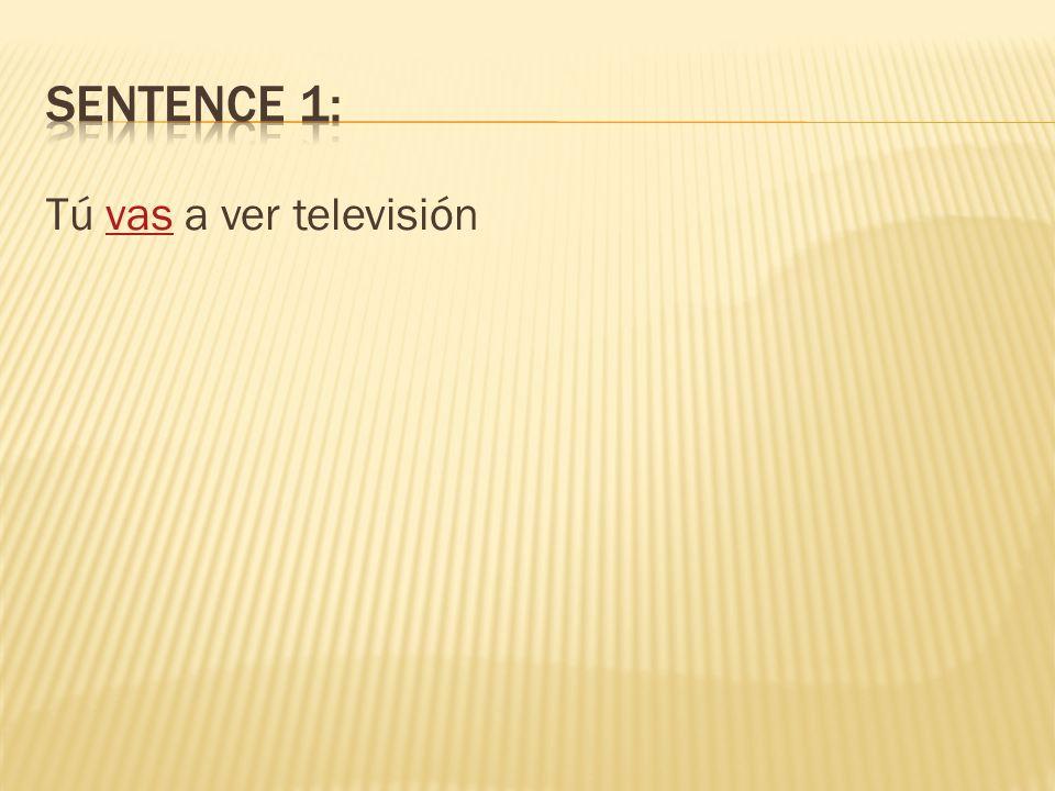Tú ___________ a ver televisión. vas voy vamos van va
