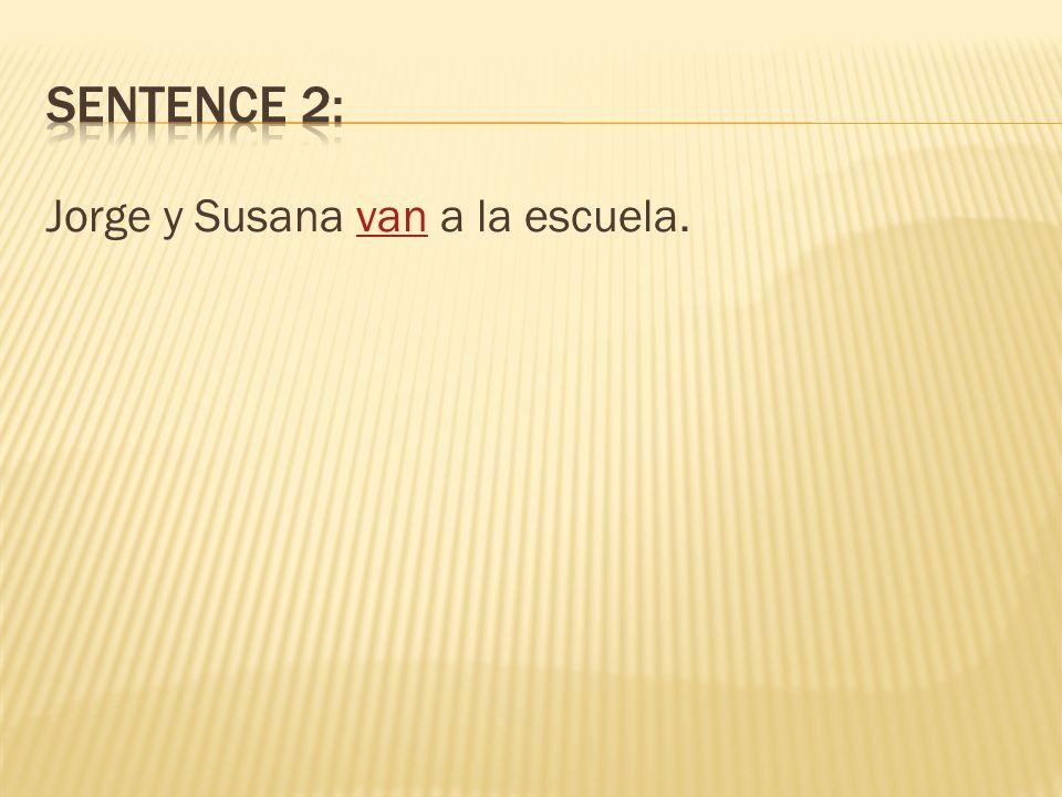 Jorge y Susana __________________ a la escuela. vas voy vamos van va