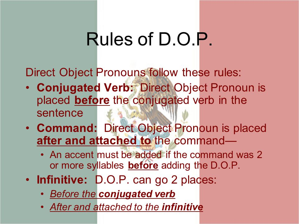 Rules of D.O.P.