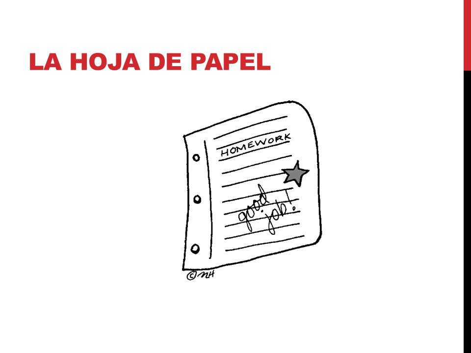 LA HOJA DE PAPEL
