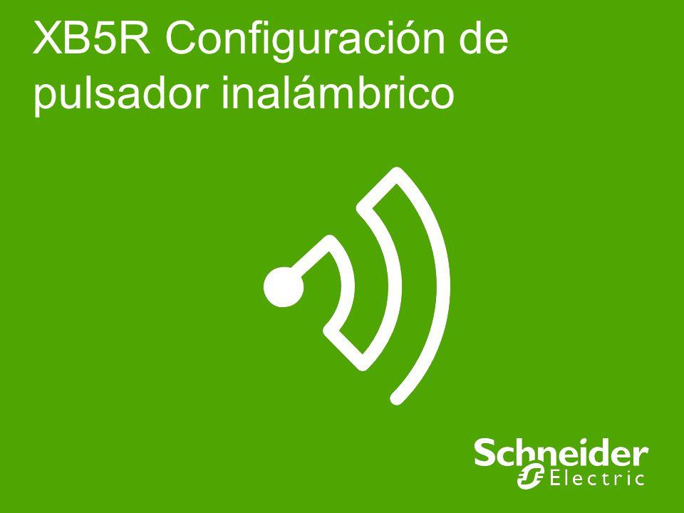 XB5R Configuración de pulsador inalámbrico