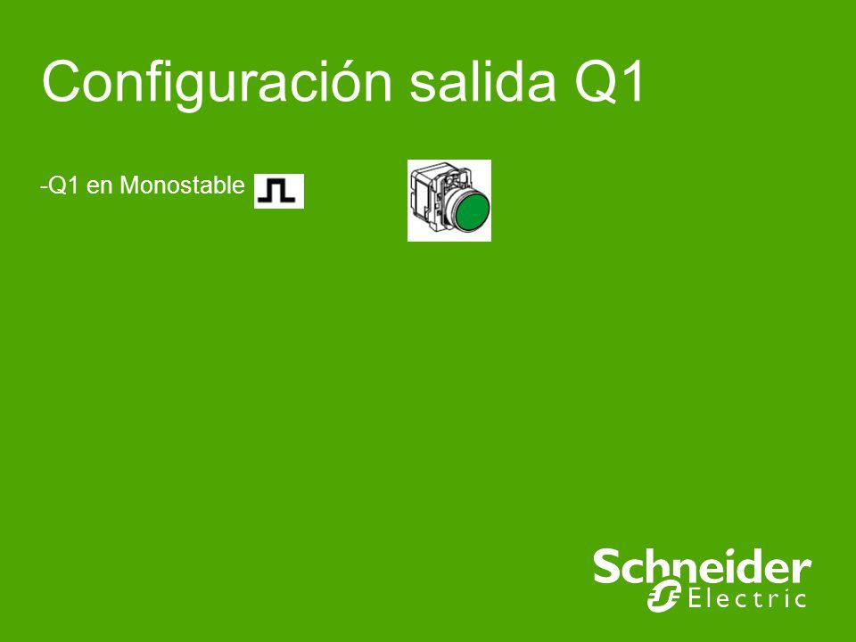 XBR5 Implementation Schneider Electric | Industry Business | Training | E.Pauchet | - May 15 Configuración de salida Q1 (Monoestable) Verde permanente Verde pulsante