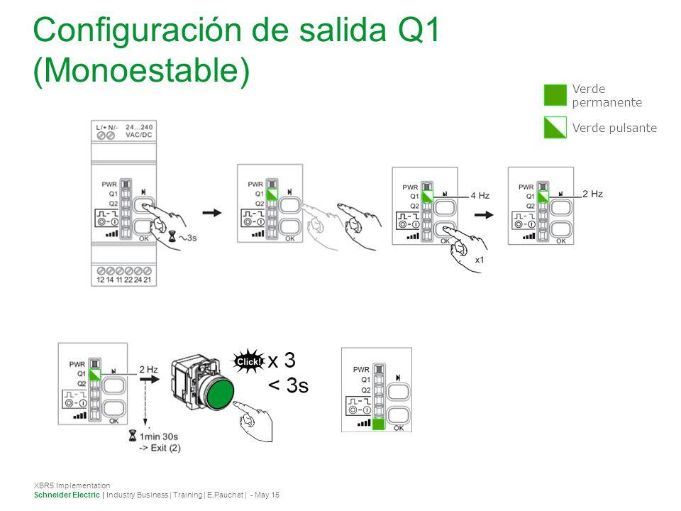 Configuración salida Q2 -Q2 en Monostable