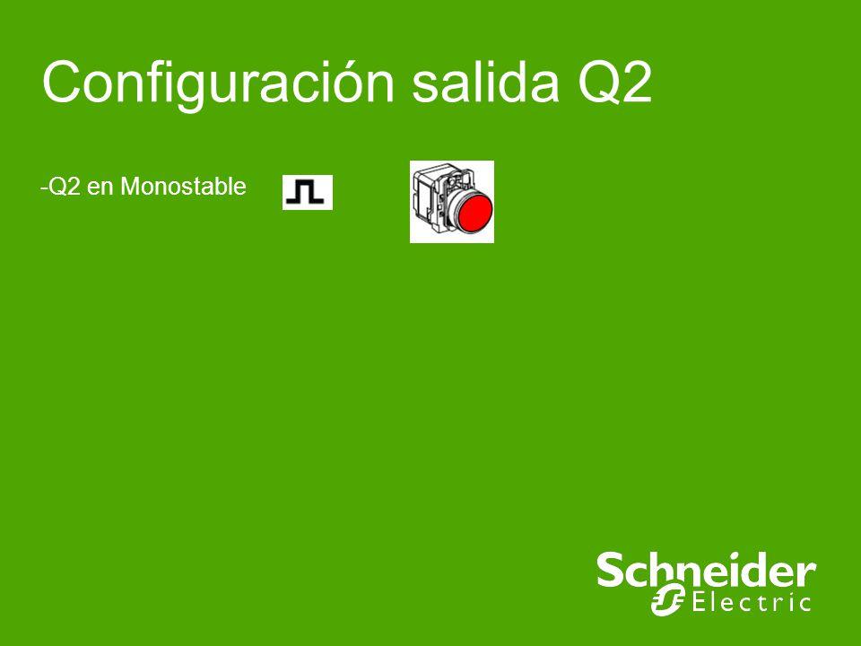 XBR5 Implementation Schneider Electric | Industry Business | Training | E.Pauchet | - May 15 Configuración de salida Q2 (Monoestable) Verde permanente Verde pulsante