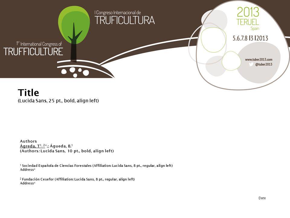 Presentation (Presentation: Lucida Sans, 12 pt, regular, align left).