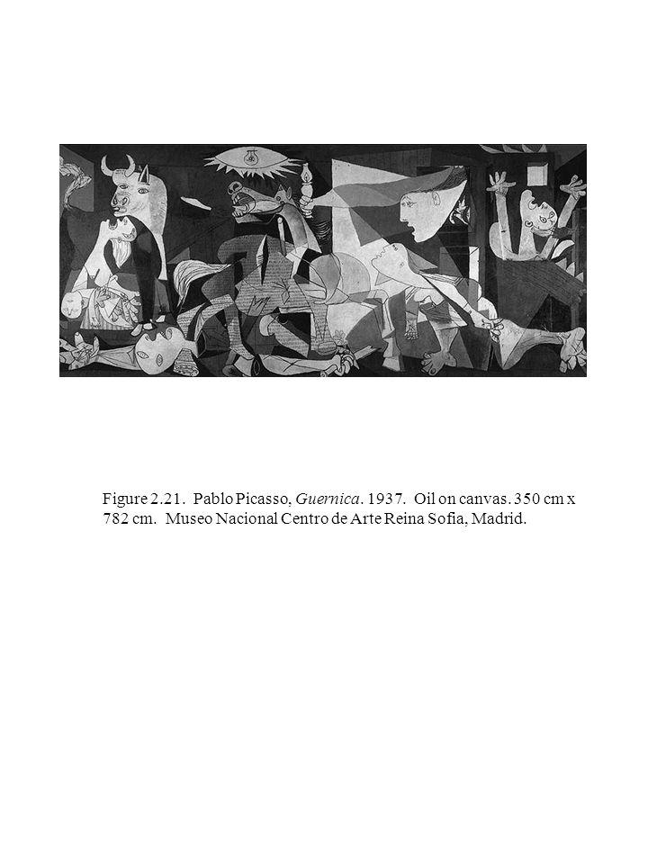 Figure 2.21. Pablo Picasso, Guernica. 1937. Oil on canvas.