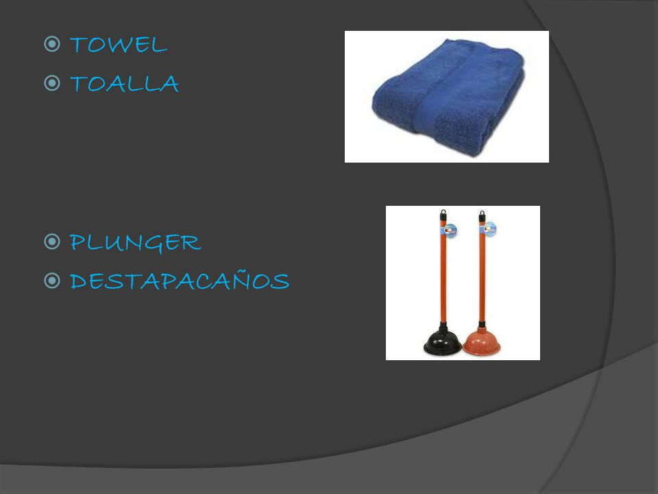  TOWEL  TOALLA  PLUNGER  DESTAPACAÑOS