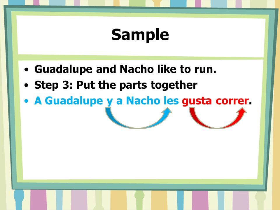 Sample Guadalupe and Nacho like to run.
